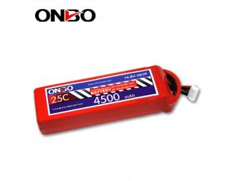 25C 4S 4500mAh lipo,4500mah lipo, ONBO 4S 25C lipo,3.7V lipo battery