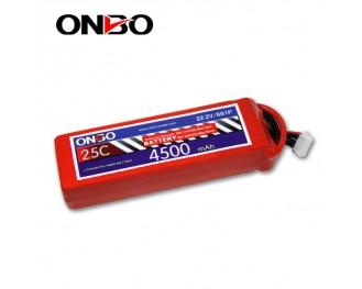 25C 6S 4500mAh lipo,4500mah lipo, ONBO 6S 25C lipo,3.7V lipo battery