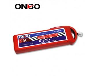 25C 2S 5200mAh lipo,5200mah lipo, ONBO 2S 25C lipo,3.7V lipo battery