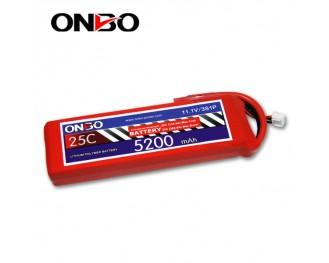 25C 3S 5200mAh lipo,5200mah lipo, ONBO 3S 25C lipo,3.7V lipo battery