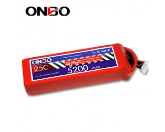 25C 4S 5200mAh lipo,5200mah lipo, ONBO 4S 25C lipo,3.7V lipo battery