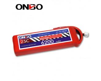 25C 3S 6200mAh lipo,6200mah lipo, ONBO 3S 25C lipo,3.7V lipo battery