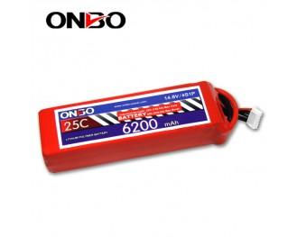 25C 4S 6200mAh lipo,6200mah lipo, ONBO 4S 25C lipo,3.7V lipo battery