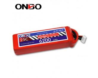 25C 5S 6200mAh lipo,6200mah lipo, ONBO 5S 25C lipo,3.7V lipo battery