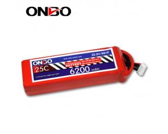 25C 6S 6200mAh lipo,6200mah lipo, ONBO 6S 25C lipo,3.7V lipo battery
