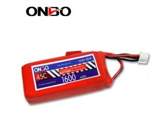 45C 4S 1600mAh lipo,1600mah lipo,ONBO 4S 45C lipo,3.7V lipo battery