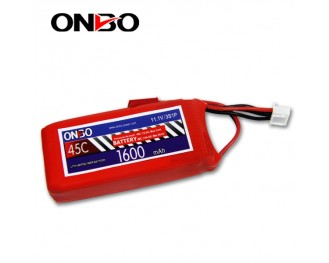45C 3S 1600mAh lipo,1600mah lipo,ONBO 3S 45C lipo,3.7V lipo battery