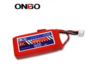 45C 2S 1600mAh lipo,1600mah lipo,ONBO 2S 45C lipo,3.7V lipo battery
