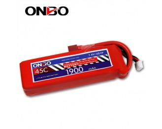 45C 2S 1900mAh lipo,1900mah lipo,ONBO 2S 45C lipo,3.7V lipo battery