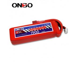 45C 3S 1900mAh lipo,1900mah lipo,ONBO 3S 45C lipo,3.7V lipo battery