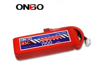 45C 4S 1900mAh lipo,1900mah lipo,ONBO 4S 45C lipo,3.7V lipo battery