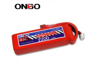 45C 2S 2200mAh lipo,2200mah lipo,ONBO 2S 45C lipo,3.7V lipo battery