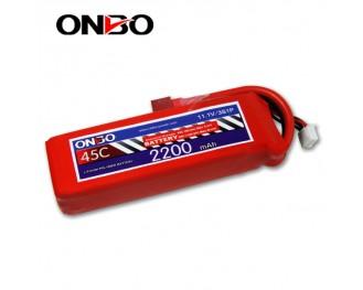 45C 3S 2200mAh lipo,2200mah lipo,ONBO 3S 45C lipo,3.7V lipo battery