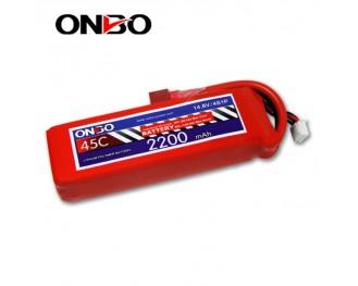 45C 4S 2200mAh lipo,2200mah lipo,ONBO 4S 45C lipo,3.7V lipo battery