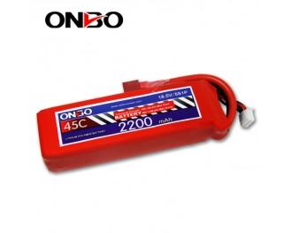 45C 5S 2200mAh lipo,2200mah lipo,ONBO 5S 45C lipo,3.7V lipo battery
