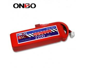 45C 6S 2200mAh lipo,2200mah lipo,ONBO 6S 45C lipo,3.7V lipo battery