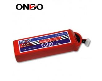 45C 4S 2600mAh lipo,2600mah lipo,ONBO 4S 45C lipo,3.7V lipo battery