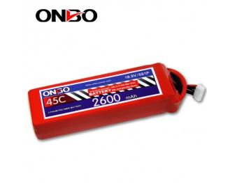 45C 5S 2600mAh lipo,2600mah lipo,ONBO 5S 45C lipo,3.7V lipo battery