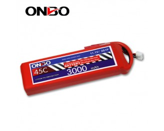 45C 3S 3000mAh lipo,3000mah lipo,ONBO 3S 45C lipo,3.7V lipo battery