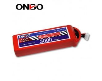 45C 4S 3000mAh lipo,3000mah lipo,ONBO 4S 45C lipo,3.7V lipo battery