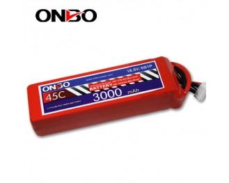 45C 5S 3000mAh lipo,3000mah lipo,ONBO 5S 45C lipo,3.7V lipo battery
