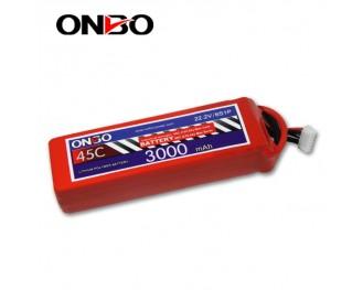 45C 6S 3000mAh lipo,3000mah lipo,ONBO 6S 45C lipo,3.7V lipo battery