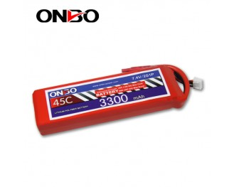 45C 2S 3300mAh lipo,3300mah lipo,ONBO 2S 45C lipo,3.7V lipo battery