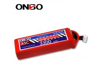 45C 4S 3300mAh lipo,3300mah lipo,ONBO 4S 45C lipo,3.7V lipo battery