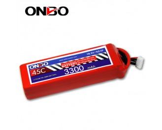 45C 5S 3300mAh lipo,3300mah lipo,ONBO 5S 45C lipo,3.7V lipo battery