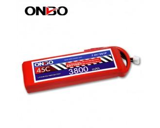45C 2S 3800mAh lipo,3800mah lipo,ONBO 2S 45C lipo,3.7V lipo battery