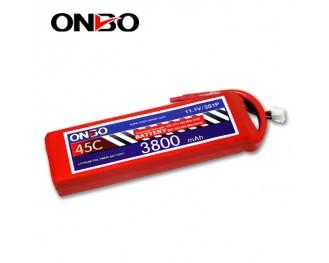 45C 3S 3800mAh lipo,3800mah lipo,ONBO 3S 45C lipo,3.7V lipo battery