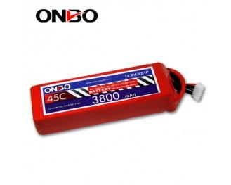 45C 4S 3800mAh lipo,3800mah lipo,ONBO 4S 45C lipo,3.7V lipo battery