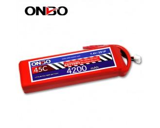 45C 2S 4200mAh lipo,4200mah lipo,ONBO 2S 45C lipo,3.7V lipo battery