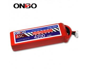 45C 4S 4200mAh lipo,4200mah lipo,ONBO 4S 45C lipo,3.7V lipo battery
