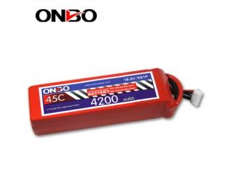 45C 5S 4200mAh lipo,4200mah lipo,ONBO 5S 45C lipo,3.7V lipo battery