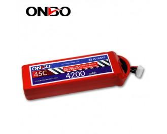 45C 6S 4200mAh lipo,4200mah lipo,ONBO 6S 45C lipo,3.7V lipo battery