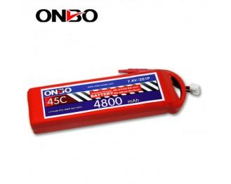 45C 2S 4800mAh lipo,4800mah lipo,ONBO 2S 45C lipo,3.7V lipo battery