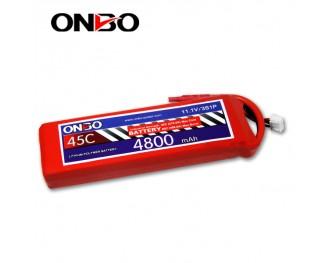 45C 3S 4800mAh lipo,4800mah lipo,ONBO 3S 45C lipo,3.7V lipo battery