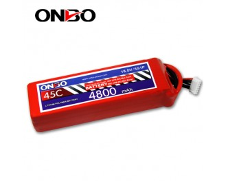 45C 5S 4800mAh lipo,4800mah lipo,ONBO 5S 45C lipo,3.7V lipo battery