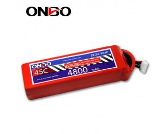 45C 6S 4800mAh lipo,4800mah lipo,ONBO 6S 45C lipo,3.7V lipo battery