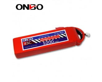 45C 3S 5200mAh lipo,5200mah lipo,ONBO 3S 45C lipo,3.7V lipo battery