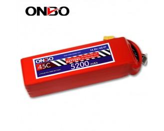45C 4S 5200mAh lipo,5200mah lipo,ONBO 4S 45C lipo,3.7V lipo battery