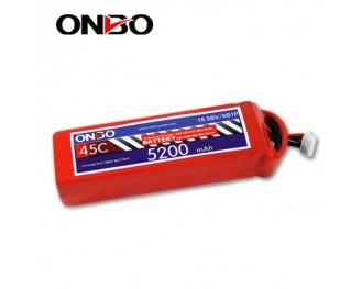 45C 5S 5200mAh lipo,5200mah lipo,ONBO 5S 45C lipo,3.7V lipo battery