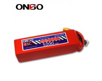 45C 6S 5200mAh lipo,5200mah ipo,ONBO 6S 45C lipo,3.7V lipo battery
