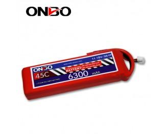 45C 3S 6300mAh lipo,6300mah lipo,ONBO 3S 45C lipo,3.7V lipo battery