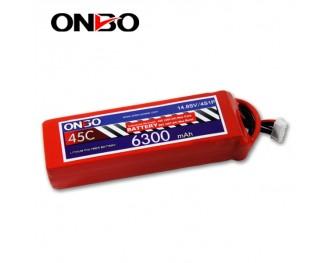 45C 4S 6300mAh lipo,6300mah lipo,ONBO 4S 45C lipo,3.7V lipo battery