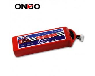 45C 5S 6300mAh lipo,6300mah lipo,ONBO 5S 45C lipo,3.7V lipo battery