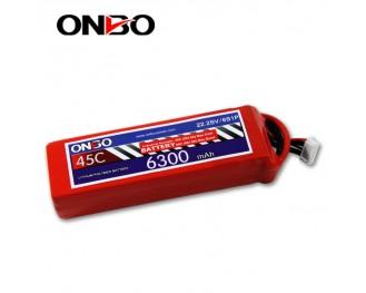 45C 6S 6300mAh lipo,6300mah lipo,ONBO 6S 45C lipo,3.7V lipo battery