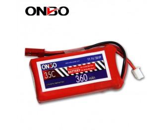 35C 3S 360mAh lipo,360mah small lipo,ONBO 3S 35C lipo,3.7V lipo battery