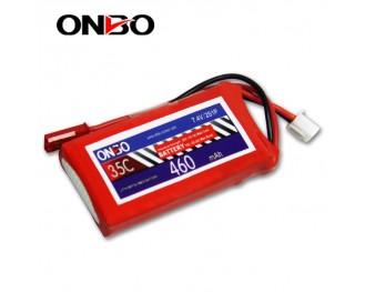 35C 2S 460mAh lipo,460mah small lipo,ONBO 2S 35C lipo,3.7V lipo battery